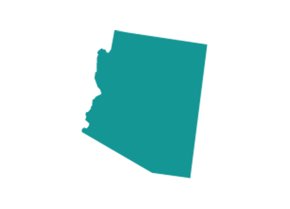 The shape of the state of Arizona