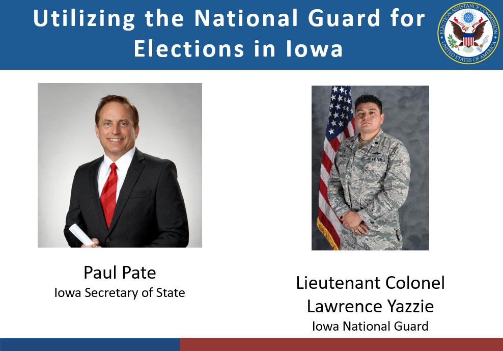 Title slide with headshots of SOS Paul Pate and Lt Col Lawrence Yazzie