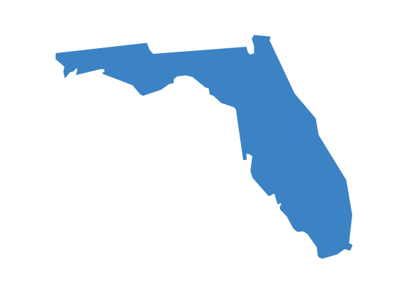The shape of the state of Florida