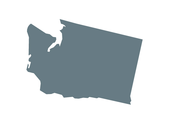 The shape of the state of Washington