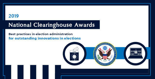 2019 Clearies Innovations in Elections Award graphic