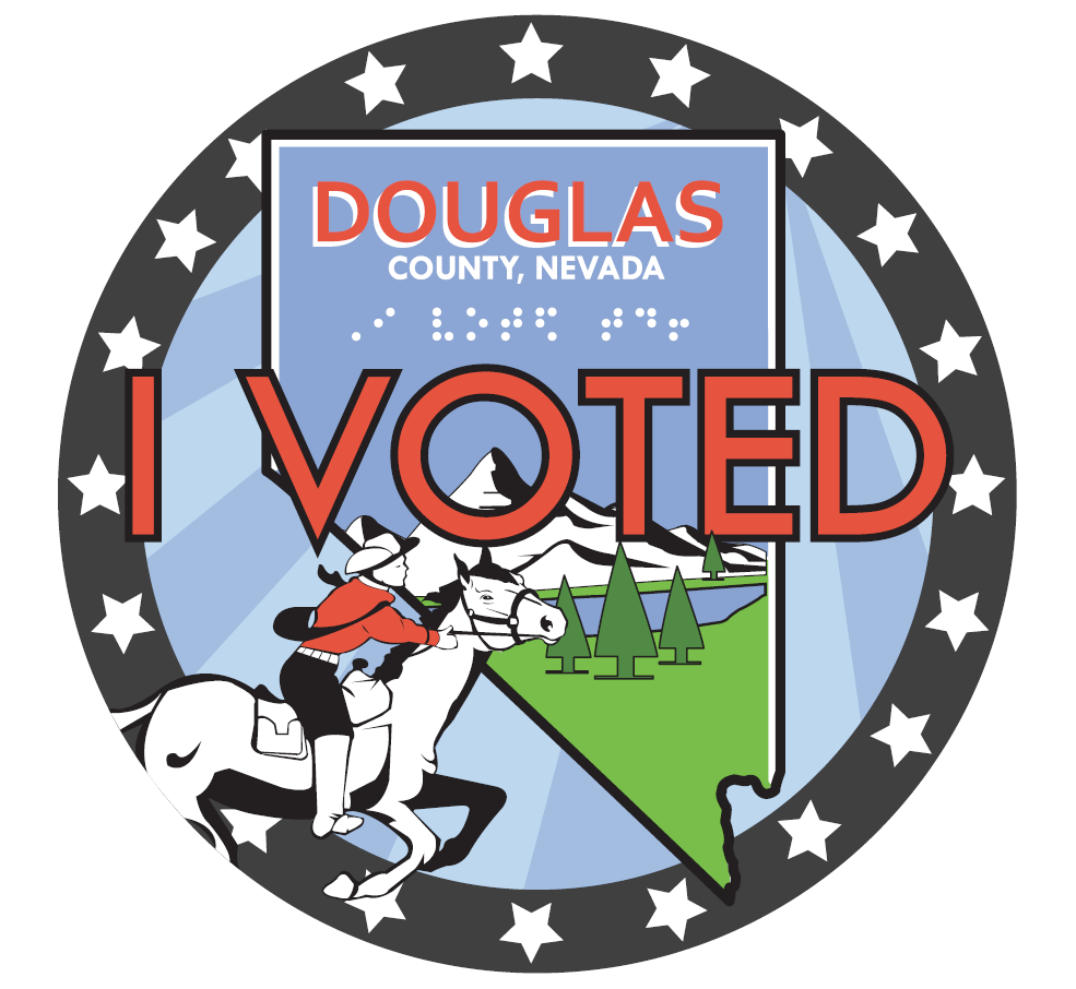 Douglas County Nevada I Voted sticker