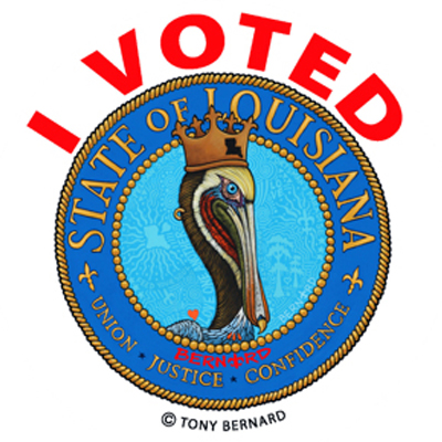 Louisiana I Voted Sticker