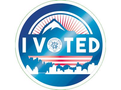 Washoe County Registrar of Voters I Voted Sticker