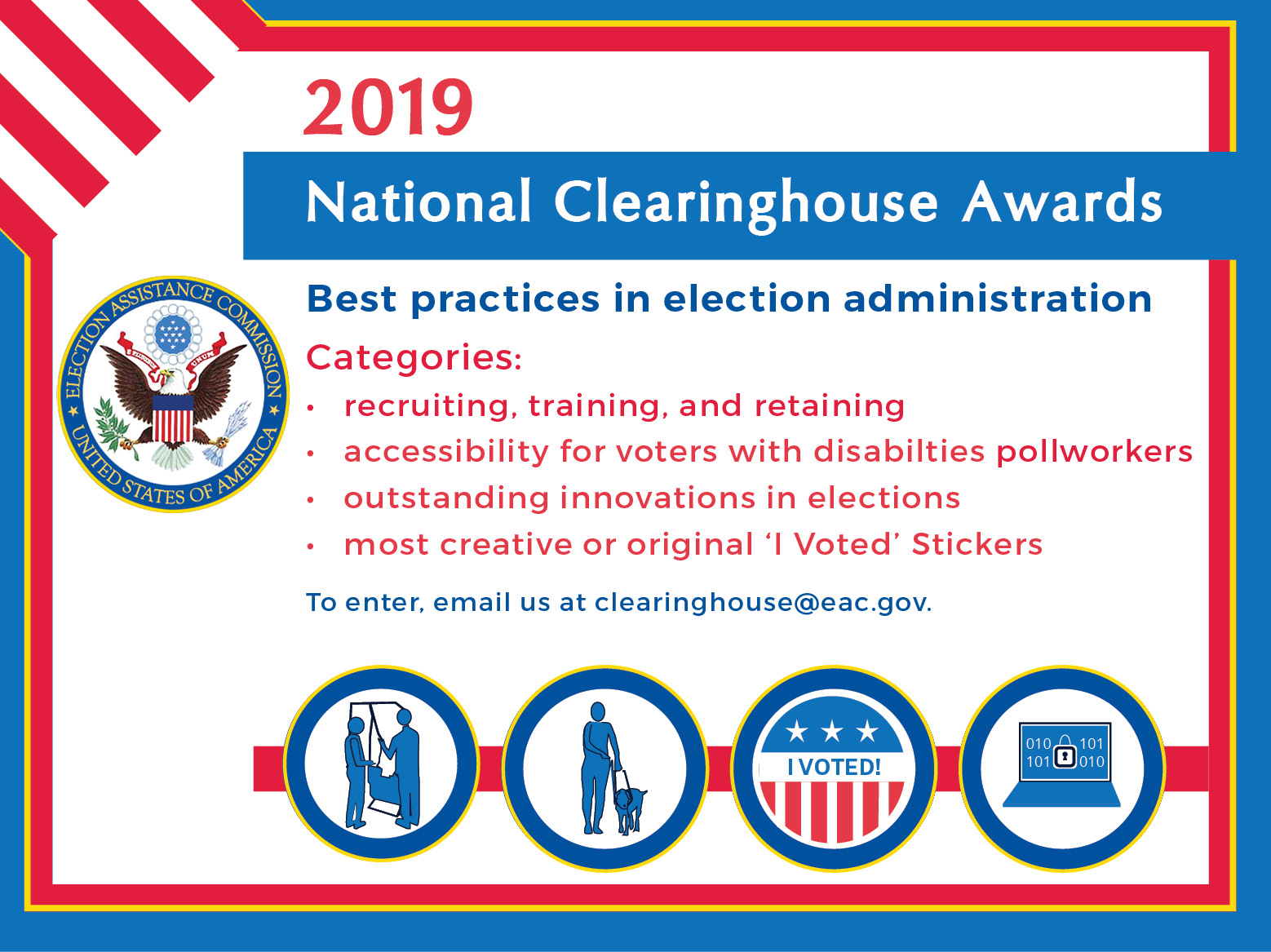 EAC Opens Submission Period in Fourth Annual Competition for Clearinghouse Awards: Celebrating Best Practices in Election Administration