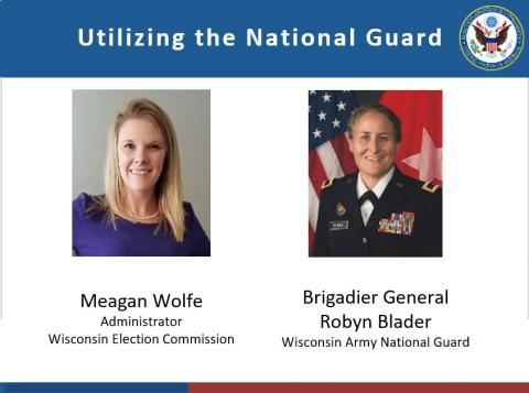Meagan Wolfe and Brigadier General Robyn Blader