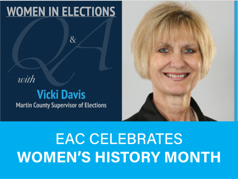 Women in Elections Q and A Series with Vicki Davis Martin County Supervisor of Elections. EAC Celebrates Women's History Month