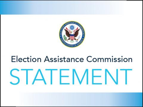 "EAC Seal with the words ""Election Assistance Commission Statement"""