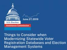 2019 Election Data Summit: Announcing our Voter Registration Database Modernization Panelists